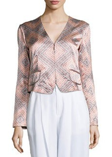 Sunset-Print Structured Jacket   Sunset-Print Structured Jacket