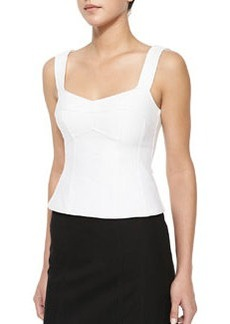 Tempter Corset Top with Sweetheart Neckline, White   Tempter Corset Top with Sweetheart Neckline, White