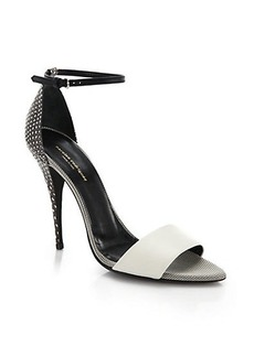Narciso Rodriguez Alba Embossed-Leather Sandals