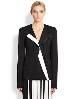 Narciso Rodriguez Asymmetric Wool Gabardine Jacket