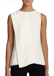 Narciso Rodriguez Asymmetrical Silk Blouse