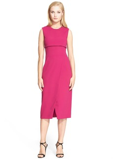 Narciso Rodriguez Asymmetrical Wrap Crepe Sheath Dress