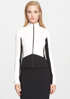 Narciso Rodriguez Bicolor Scuba Knit Jacket