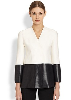 Narciso Rodriguez Bicolor Wool Silk Jacket