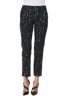 Narciso Rodriguez Broken Stripes Straight-Leg Pants