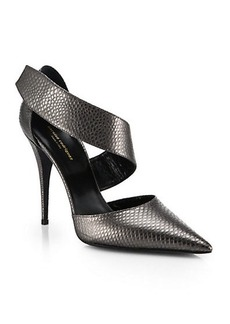 Narciso Rodriguez Camila Embossed Leather d'Orsay Heels