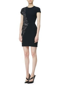 Narciso Rodriguez Cap-Sleeve Print-Panel Dress