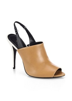 Narciso Rodriguez Cindy Leather Slingback Sandals