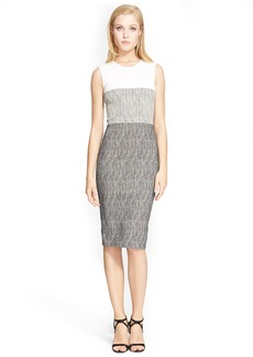 Narciso Rodriguez Colorblock Jacquard Sheath Dress
