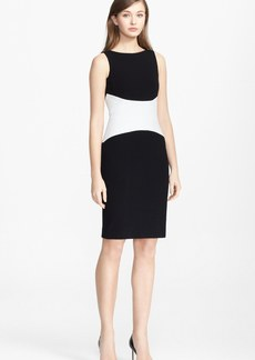 Narciso Rodriguez Colorblock Sheath Dress