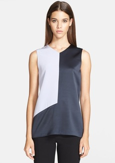 Narciso Rodriguez Colorblock Silk Charmeuse Top