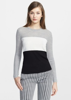 Narciso Rodriguez Colorblock Virgin Wool & Silk Sweater