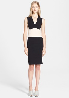 Narciso Rodriguez Colorblock Wool Blend Sheath Dress
