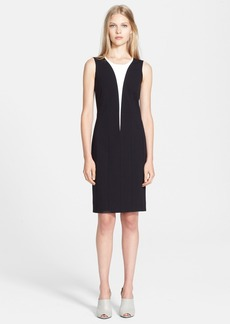 Narciso Rodriguez Contrast Inset Jersey Sheath Dress