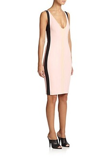 Narciso Rodriguez Contrast Jersey Sheath