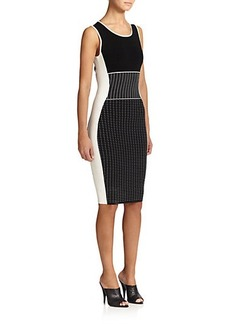 Narciso Rodriguez Contrast Knit Sheath