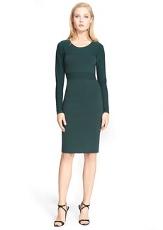 Narciso Rodriguez Contrast Knit Sheath Dress
