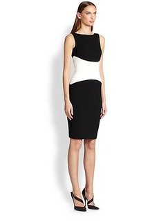 Narciso Rodriguez Contrast-Waist Pencil Dress