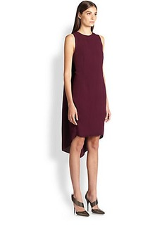 Narciso Rodriguez Crepe Cape-Back Dress