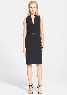 Narciso Rodriguez Crepe Sheath Dress