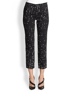 Narciso Rodriguez Cropped Jacquard Cigarette Pants