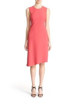 Narciso Rodriguez Curvilinear Dart Crepe Dress