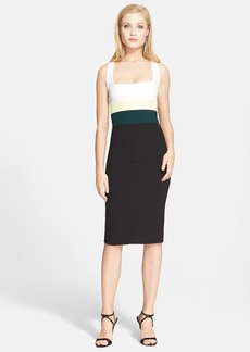 Narciso Rodriguez Cutaway Back Scuba Knit Sheath Dress