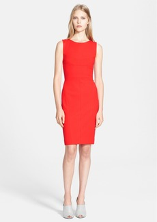 Narciso Rodriguez Cutout Detail Ribbed Jersey Sheath Dress
