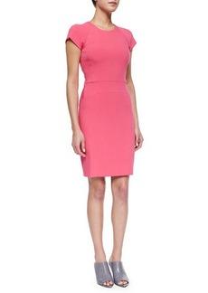 Narciso Rodriguez Cutout Paneled Sheath Dress, Bright Pink