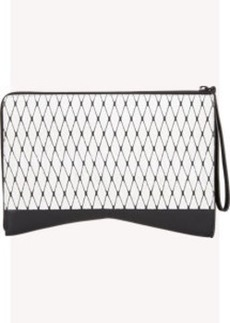 Narciso Rodriguez Diamond-patterned Python Clutch