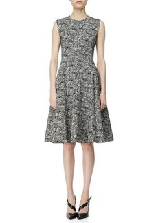 Narciso Rodriguez Digital-Print Cotton A-Line Dress