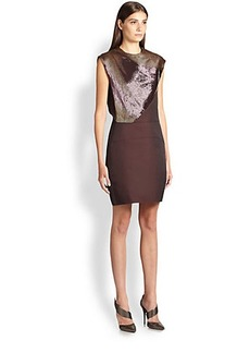 Narciso Rodriguez Embroidered Silk Georgette Dress