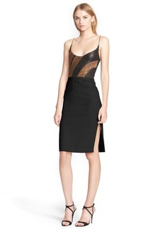 Narciso Rodriguez Embroidered Sleeveless Dress