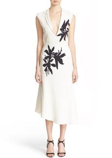 Narciso Rodriguez Floral Print Silk Crêpe Dress