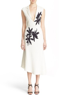 Narciso Rodriguez Floral Print Silk Crêpe Dress