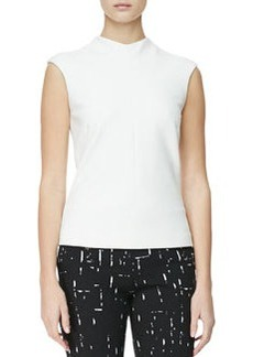 Narciso Rodriguez High-Neck Cap-Sleeve Blouse