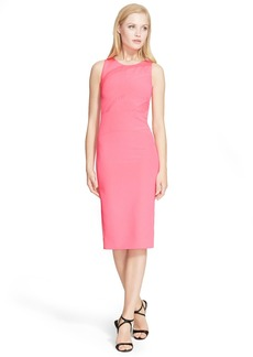 Narciso Rodriguez Inset Crepe Sheath Dress