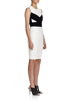 Narciso Rodriguez Jersey Contrast-Paneled Dress