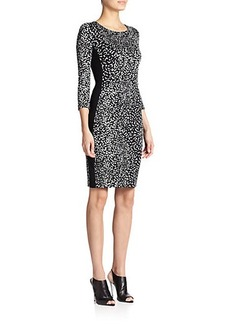 Narciso Rodriguez Jersey Printed Bodycon Dress
