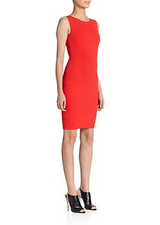 Narciso Rodriguez Jersey Ribbed Harness Dress