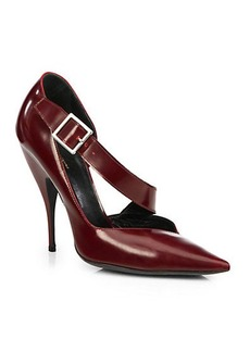 Narciso Rodriguez Julianna Leather Asymmetrical Strap Pumps