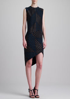 Narciso Rodriguez Laser Bonded Dress, Black/Blue
