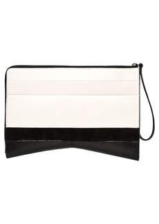 Narciso Rodriguez Leather & Suede Clutch