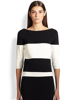 Narciso Rodriguez Milano Knit Boatneck Top