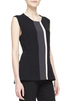 Narciso Rodriguez Multi Line-Block Top, Black