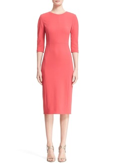 Narciso Rodriguez Pintuck Crepe Sheath Dress