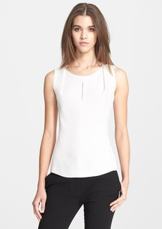 Narciso Rodriguez Pleated Neck Silk Georgette Shell