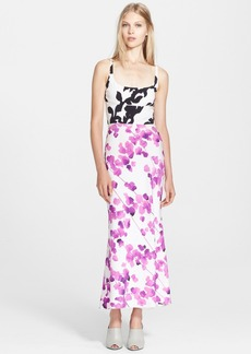 Narciso Rodriguez Print Stretch Silk Georgette Maxi Dress