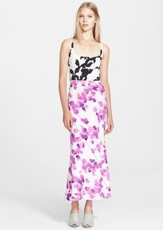 Narciso Rodriguez Print Stretch Silk Georgette Maxi Dress