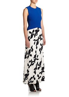 Narciso Rodriguez Printed Scuba Gown